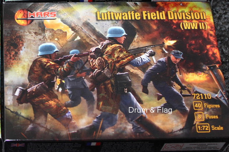 Mars 72110 Luftwaffe Field Division Infantry WWII. 1/72 scale
