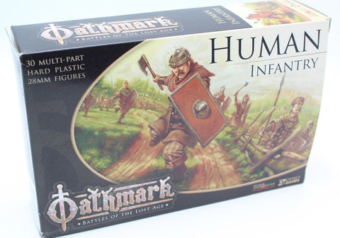 OATHMARK - HUMAN INFANTRY - BATTLES OF THE LOST AGE - 28mm Hard Plastic