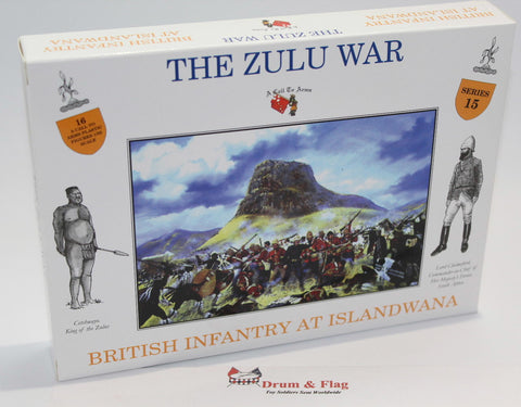 A CALL TO ARMS SET #15 - BRITISH INFANTRY AT ISANDLWANA. 1/32 SCALE.