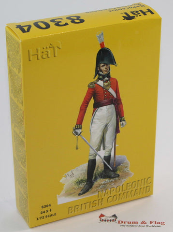 HAT 8304 NAPOLEONIC BRITISH COMMAND. 24 x 1/72 SCALE PLASTIC FIGURES.