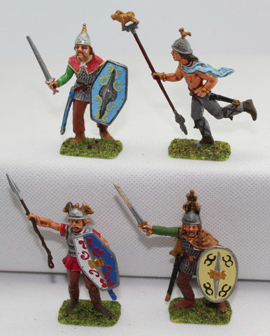Italeri Gaul Warriors Command. Painted 1/32 Scale Plastic. Ancient Celts / Britons. LOT B