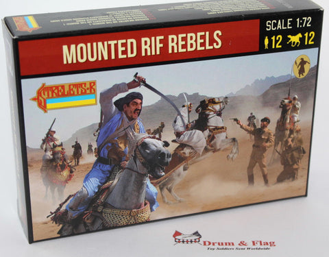 Strelets 190 Rif War Mounted Rif Rebels. 1/72 Scale Plastic Figures