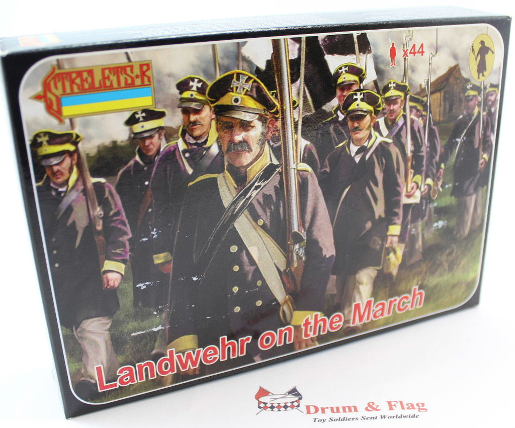 Strelets Set 168 - Prussian Landwehr on the March - Napoleonic. 1/72 Scale Plastic Figures