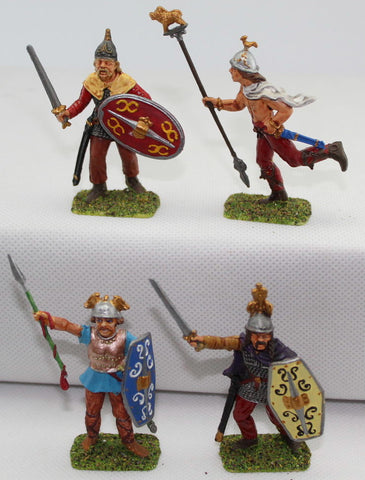 Italeri Gaul Warriors Command. Painted 1/32 Scale Plastic. Ancient Celts / Britons. LOT C