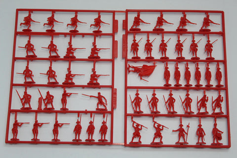 No Box. IMEX 512. BRITISH REDCOATS INFANTRY. AMERICAN REVOLUTION. 1/72 Scale.