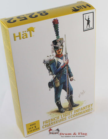 HAT 8252 FRENCH LIGHT INFANTRY CHASSEURS (COMMAND) - 1/72 SCALE PLASTIC