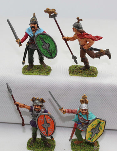 Italeri Gaul Warriors Command. Painted 1/32 Scale Plastic. Ancient Celts / Britons. LOT D
