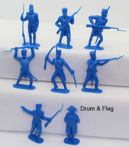 JECSCAN Original Moulds - French Infantry & Napoleon. 70mm. 8 Poses