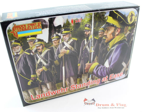 Strelets Set 169 - Prussian Landwehr Standing at Ease - Napoleonic . 1/72 Scale Plastic Figures
