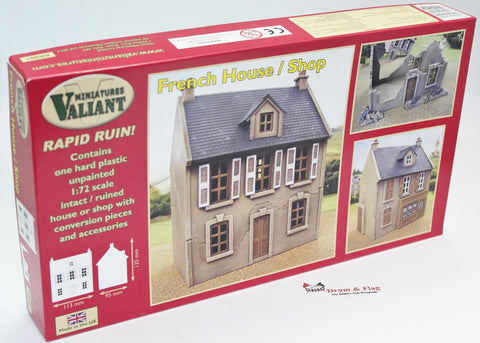 Valiant Miniatures - Rapid Ruin French House / Shop. 1:72 scale plastic kit.