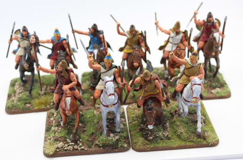 Expeditionary Force - Thracian Light Cavalry - Painted 60mm Plastic. Lot B