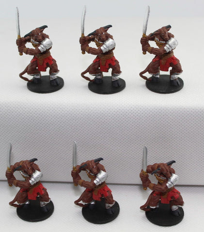 Arcane Legions - Minotaur Warriors x 6. Painted plastic. 35mm tall.