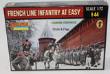 Strelets 225 Napoleonic French Line Infantry at Ease in Winter Dress. Flanking Companies. 1/72