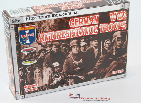 Orion 72054 - WW2 German Anti-Resistance Troops. 1/72 Scale Plastic Figures