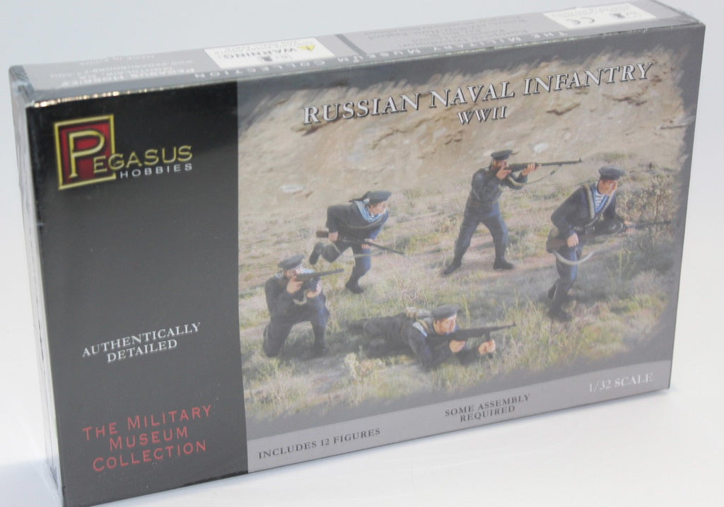 PEGASUS 3203 RUSSIAN NAVAL INFANTRY 1/32 SCALE 54MM. PLASTIC RUSSIANS. NAVY.