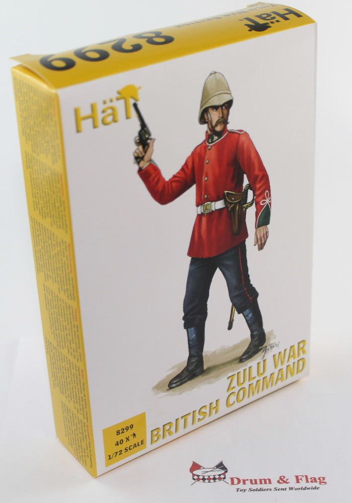 HAT 8299 ZULU WAR BRITISH COMMAND. 40 x 1/72 SCALE COLONIAL ERA FIGURES.
