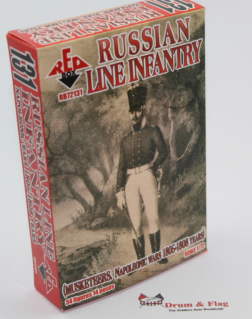 RedBox 72131 Napoleonic Russian Line Infantry Musketeers - 1/72 scale.
