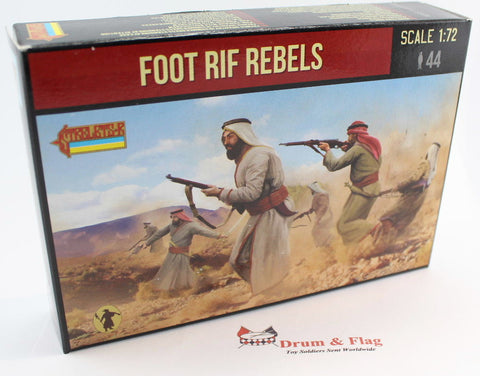 Strelets Set 185 - Foot Arab Rebels - Rif War. 1/72 Scale Plastic Figures