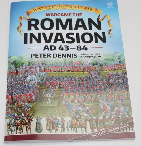 Wargame the Roman Invasion AD43-84. Dennis & Callan. Book. Paper figure flats.