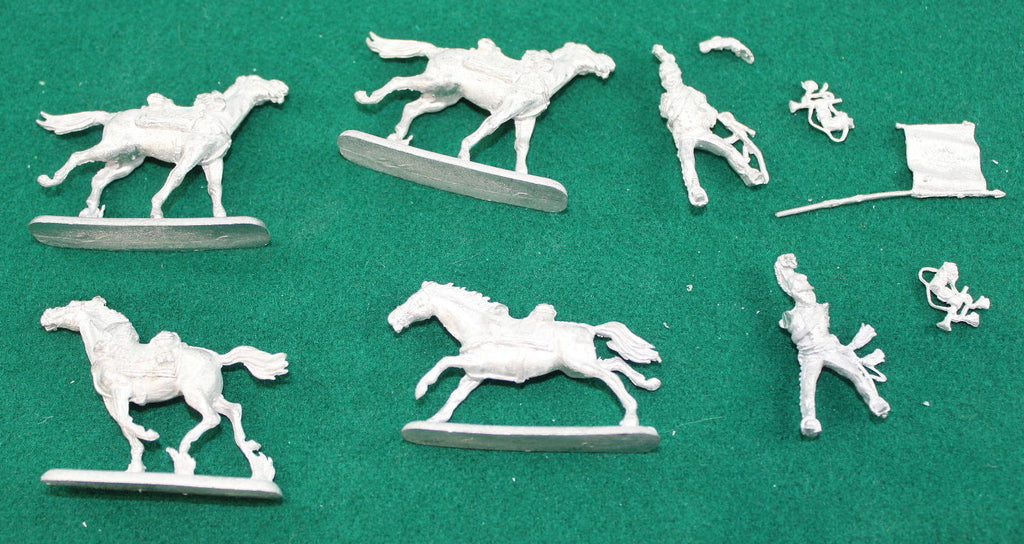 Used 'Spare Bits' WATERLOO 1815 AP106 PRUSSIAN CUIRASSIERS 1812-15. 1/72 SCALE. METAL FIGURES