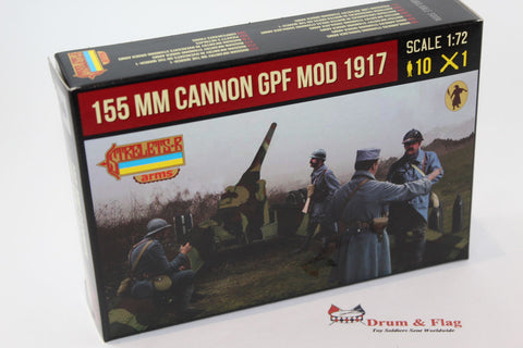 Strelets A018 155mm Cannon GPF Mod 1917. 1/72 Scale Plastic.