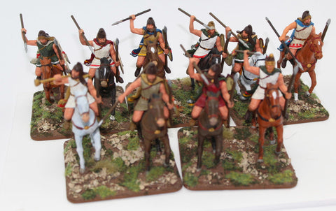 Expeditionary Force - Thracian Light Cavalry - Painted 60mm Plastic. Lot A