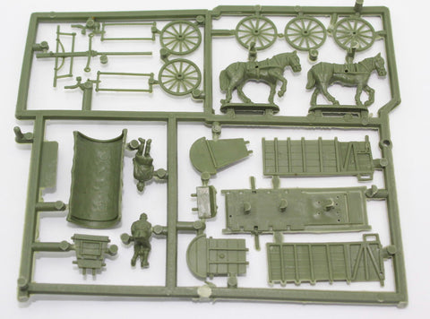 SINGLE SPRUE - HAT 8261 WW2 GERMAN FIELD WAGON. 1/72 SCALE UNPAINTED PLASTIC