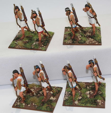 Expeditionary Force - Cretan Archers x 8 - Painted 60mm Plastic. (Set A)