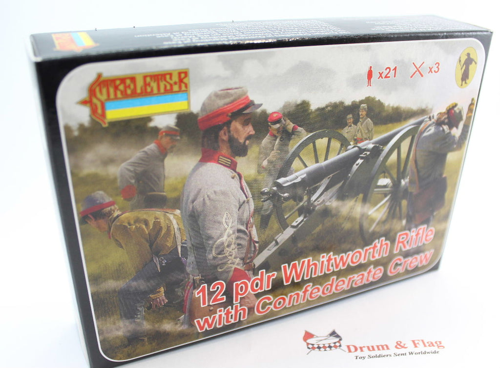 Strelets Set 183 - Whitworth Rifle with Confederate Crew - ACW Artillery - 1/72 Scale Plastic Figures