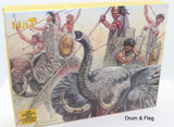 HAT 8023 WAR ELEPHANTS 1/72 SCALE UNPAINTED PLASTIC 6 ELEPHANTS & 18 CREW