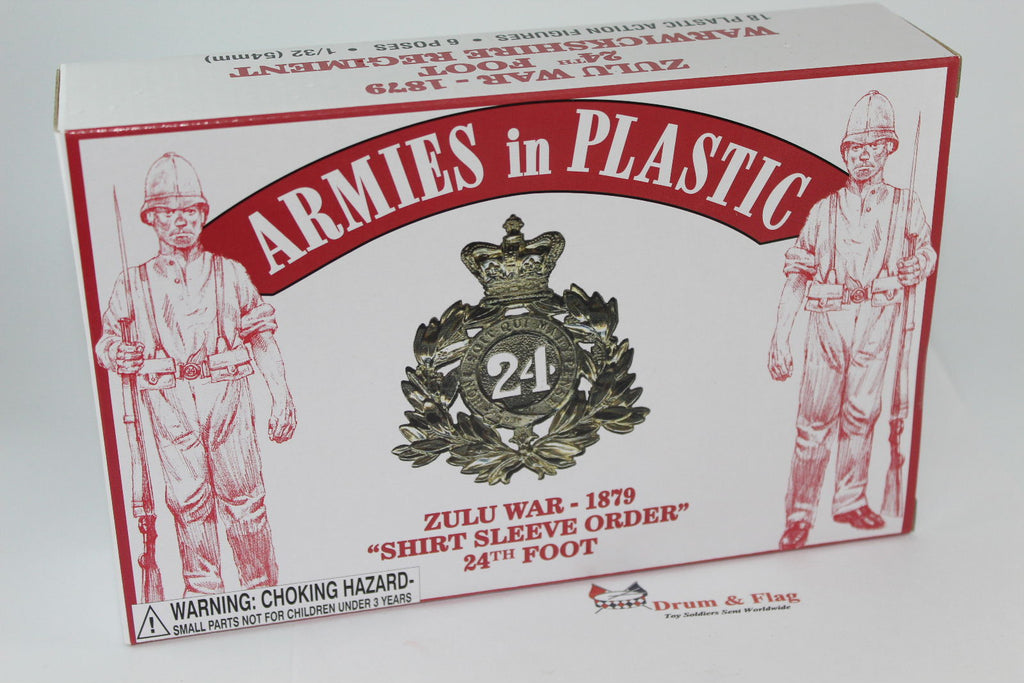 ARMIES IN PLASTIC #5573 - ZULU WAR 1879 - BRITISH INFANTRY - 24TH FOOT 1/32 SCALE.