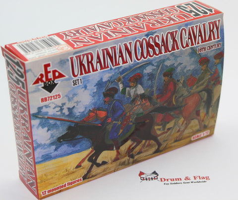 RedBox 72125 Ukrainian Cossack Cavalry Set 1. 16th Century. 1/72 scale.