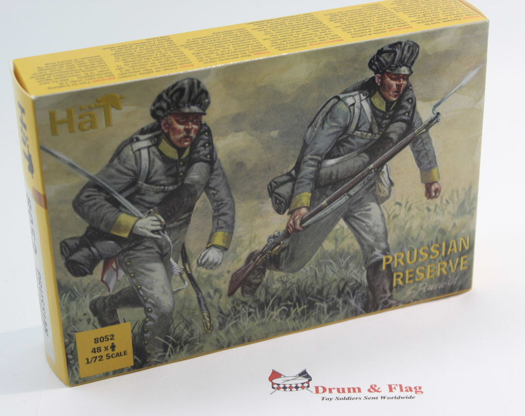 HAT 8052: NAPOLEONIC PRUSSIAN RESERVE INFANTRY X 48 1/72 SCALE PLASTIC FIGURES.