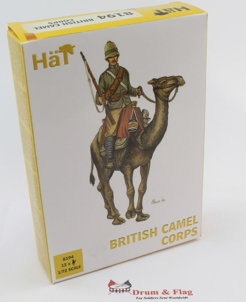 HAT SET 8194 - BRITISH CAMEL CORPS - 1:72 SCALE UNPAINTED PLASTIC FIGURES