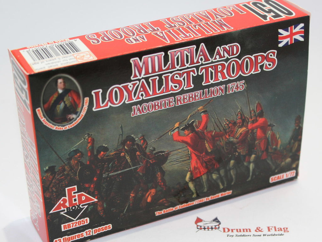 REDBOX 72051 MILITIA & LOYALIST TROOPS JACOBITE REBELLION 1745. 1/72 SCALE