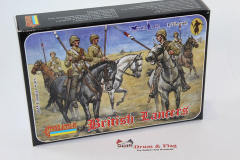 Strelets Set #55 - British Lancers (1898-1902). 1/72 Scale Plastic Figures.