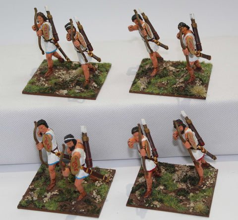 Expeditionary Force - Cretan Archers x 8 - Painted 60mm Plastic. (Set B)