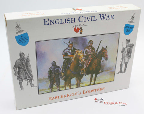 A CALL TO ARMS #34 - HASLERIGGE'S LOBSTERS 1/32 SCALE. ENGLISH CIVIL WAR CAVALRY