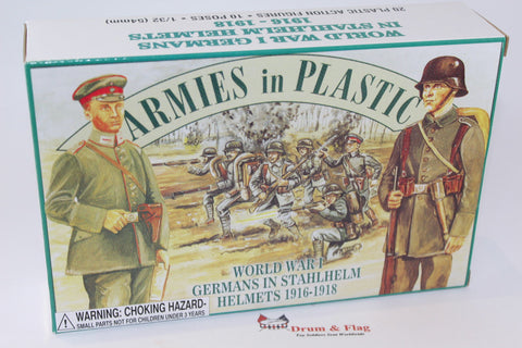 ARMIES IN PLASTIC #5402 - WW1 - GERMANS IN STAHLHELM HELMETS - 1/32 SCALE.