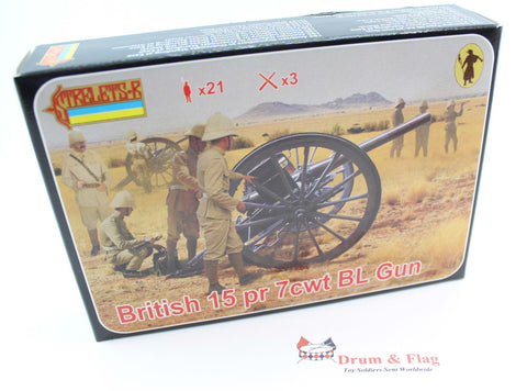 Strelets Set 177 - British 15 pr 7 cwt BL Gun - Anglo-Boer War - 1/72 Scale Plastic Figures