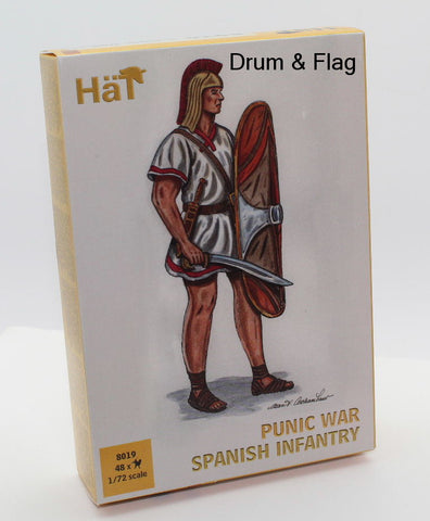 HAT 8019 HANNIBAL'S SPANISH INFANTRY. PUNIC WARS - CARTHAGINIANS. 1/72 SCALE.