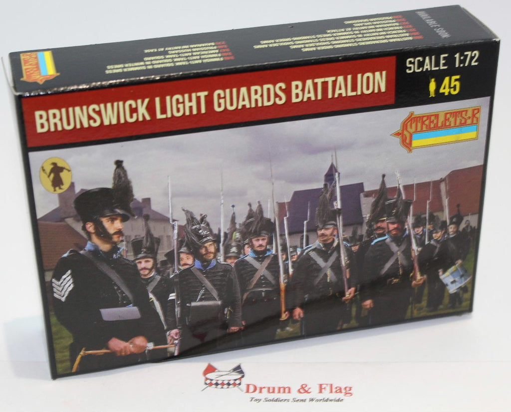 Strelets 154 Napoleonic Brunswick Light Guard Battalion. 1/72 Scale.