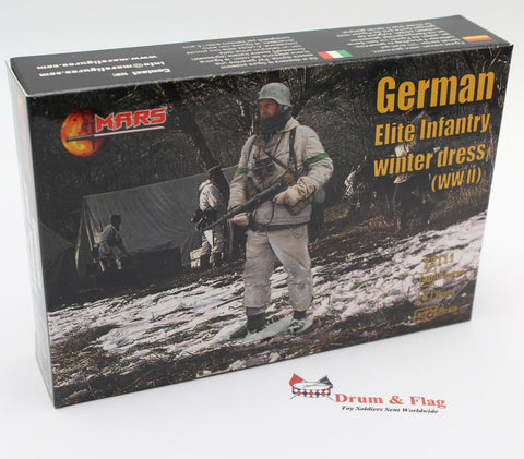 Mars 72111 WW2 German Elite Infantry in Winter Dress. 1/72 scale