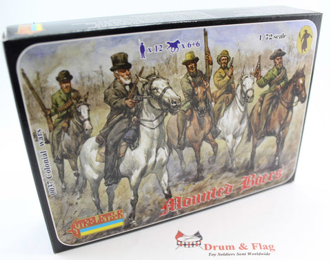 STRELETS 37. MOUNTED BOERS. BOER WAR. 1:72 SCALE PLASTIC FIGURES