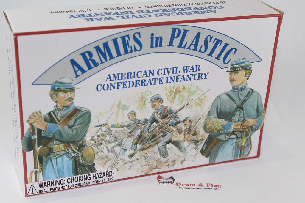 ARMIES IN PLASTIC #5411 - CONFEDERATE INFANTRY - AMERICAN CIVIL WAR - 1/32 SCALE.