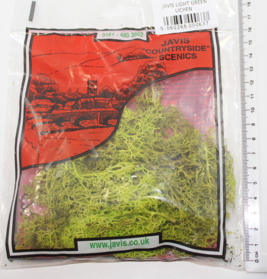LIGHT GREEN LICHEN. Javis JLGLS. For wargames bases & scenery / Model railways
