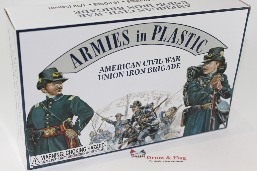 ARMIES IN PLASTIC #5410 - UNION IRON BRIGADE - AMERICAN CIVIL WAR - 1/32 SCALE.