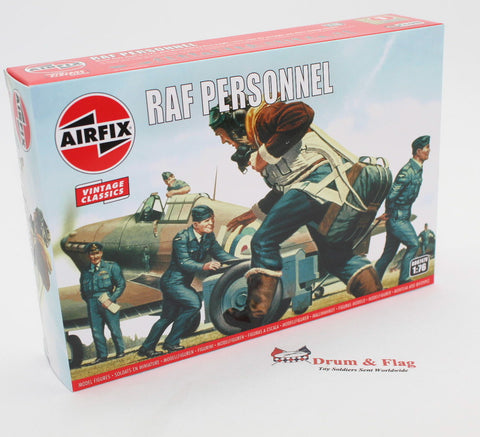 AIRFIX #747 WW2 RAF PERSONNEL. 1/76 Scale British Pilots & Ground Crew