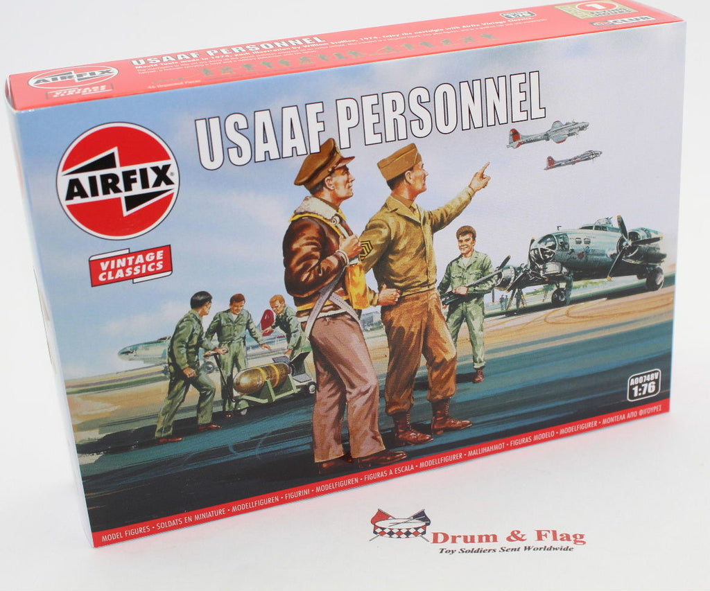 AIRFIX #748 WW2 USAAF PERSONNEL. 1/76 Scale American Pilots & Ground Crew