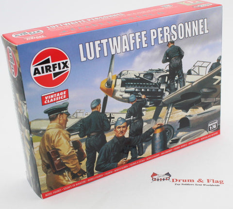 AIRFIX #755 WW2 LUFTWAFFE PERSONNEL. 1/76 Scale German Pilots & Ground Crew